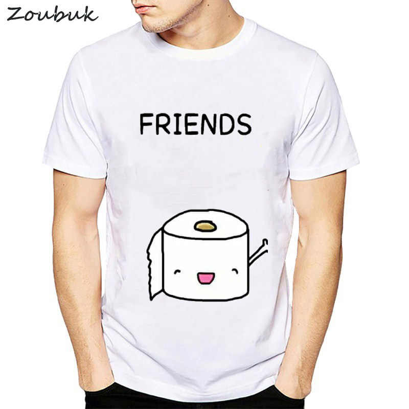 f13e0f4c ... 2018 best friends Forever Funny T Shirts O-Neck T shirt Men Toilet paper  and ...