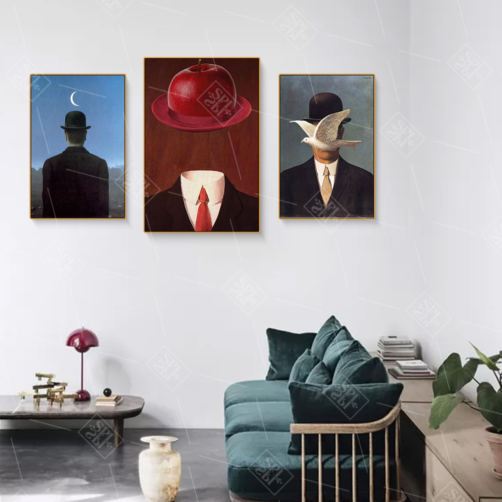 Magritte Artist Surrealist Painting Print On Canvas Abstract Wall Art Picture For Living Room Home Decoration Posters And Prints