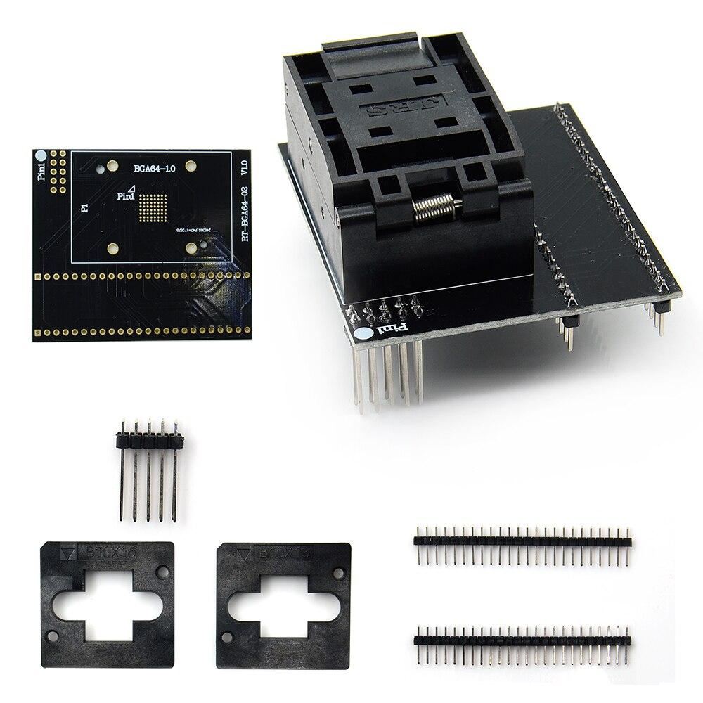 Factory Price BGA64 adapter for RT809H Programmer universal RT BGA64 1 1 0mm RT BGA64 02