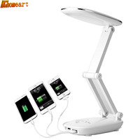 HGhomeart LED Fashion Desk Lamps Rechargeable Student Eye Protection Dormitory Desk Bed Bed Bedside Folding Learning