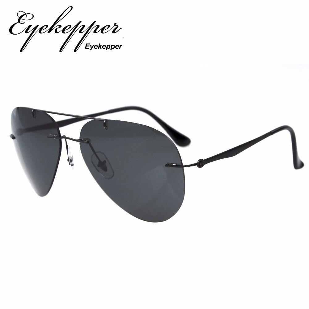 3b5e438c53 S1508-Polarized Eyekepper Titanium Rimless Polarized Sunglasses. В  избранное. gallery image