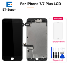 For iPhone 7 7 Plus OEM Display Full Set LCD Digitizer Assembly with Camera Speaker Spare Parts Complete LCD Screen Replacement