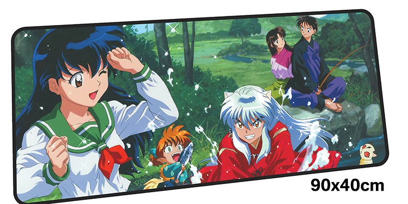 inuyasha mousepad gamer 900x400X3MM gaming mouse pad large HD pattern notebook pc accessories laptop padmouse ergonomic mat