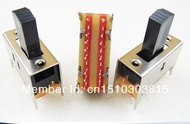 Free shipping 100pcs dip 2 way 3 position 4p2t slide switch 4 pole ...