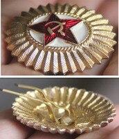 10 adet/grup, Sovyet ordusu memuru kap rozeti altın kaplama Rusya asker askeri rütbe amblemi