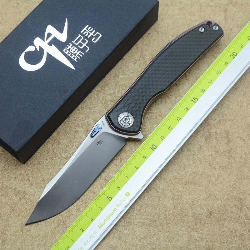 CH3516 folding knife ball bearing S35VN blade TC4 titanium + carbon fiber handle outdoor camping multi-purpose hunting EDC tool цены