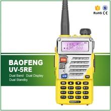 Baofeng UV-5RE Yellow VHF/UHF 136-174/400-520 MHz Dual-Band FM Ham Two-way Radio Walkie Talkie + Original Baofeng Earphone