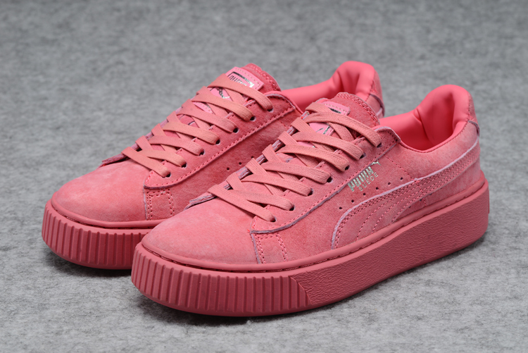 New Arrival PUMA rihanna Suede Platform creeper Women's shoes Breathable Sneakers Badminton Shoes free delivery new arrivals puma jogger series new type of new type of light badminton shoes