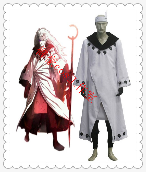 Naruto Madara Uchiha Jinchuriki Transformation Anime Cosplay Costume