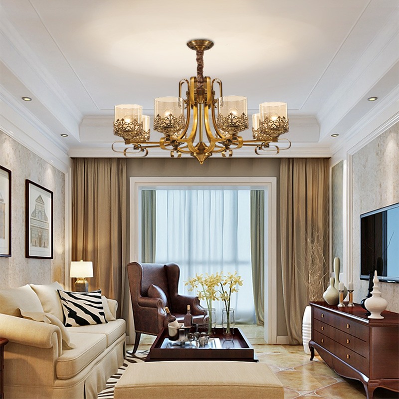American brief pendant light wrought iron bedroom lamps fashion