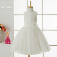 Simple First Communion Dresses For Girls Kids Evening Gowns Flower Girl Dresses