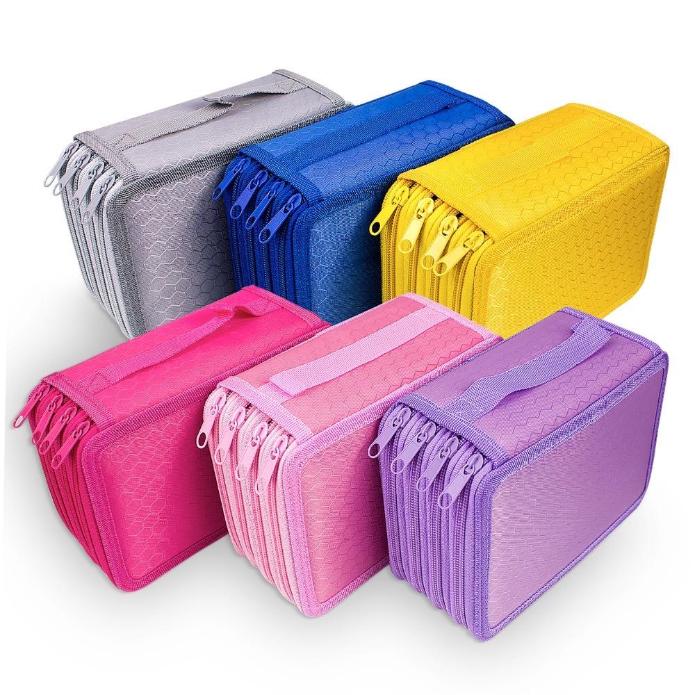 72 Holes 4 Layers Pencil Case For School Student  Oxford Bag Marker Storage Colored Pencils Pen School Supplies
