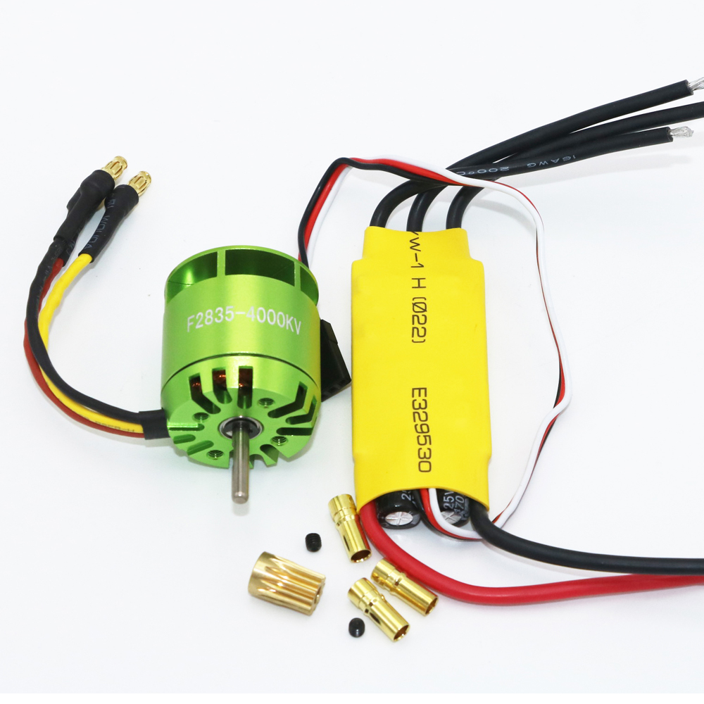 где купить 1 set 4000KV Brushless Motor For All ALIGN TREX T-rex 450 & 30A ESC For Rc Helicopter дешево