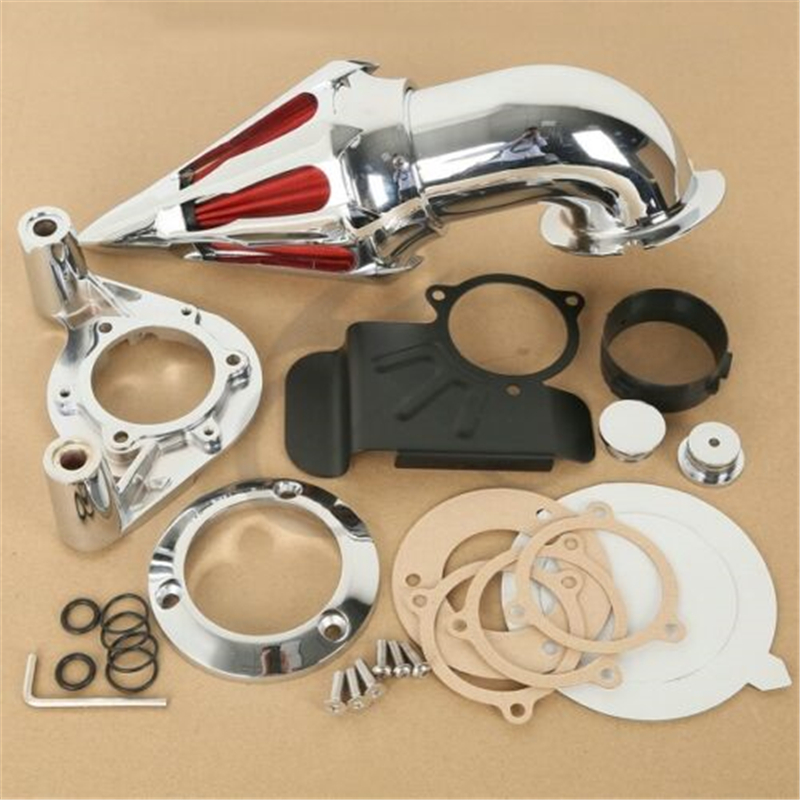 Chrome Spike Air Filter Kit Intake For Harley Electra Road Glide FL 2008 2012 New Motorcycle