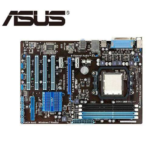 Socket AM3 ASUS M4N68T LE V2 Motherboard M-ATX M4N68T LE V2 Systemboard M4N68T DDR3 For NVIDIA NForce630A Desktop Mainboard Used