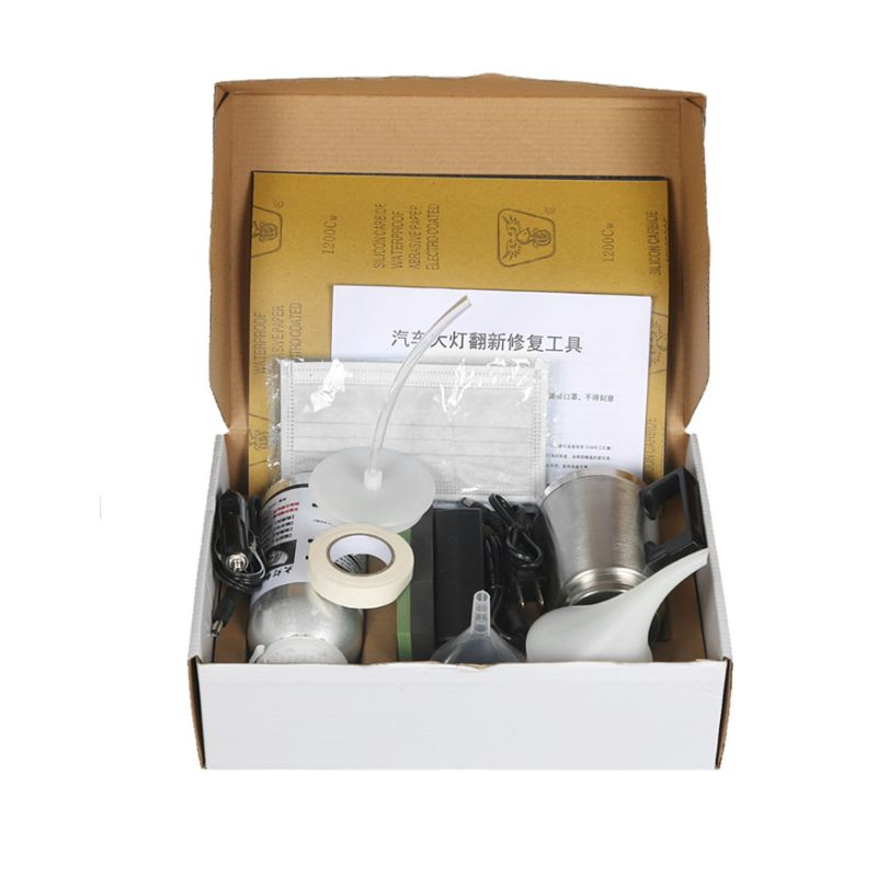 Vehicle Headlight Glass Refurbishment Tool Kit