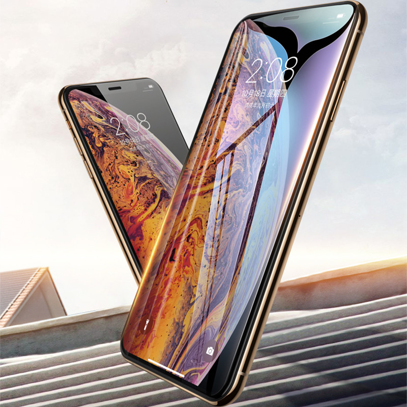9D Full Cuverd Tempered Glass For iPhone XS Max XR X 8 7 6s 6 Plus Screen Protector For iPhone X XR XS Max 4 7 5 5 6 1 6 5inch in Fitted Cases from Cellphones Telecommunications