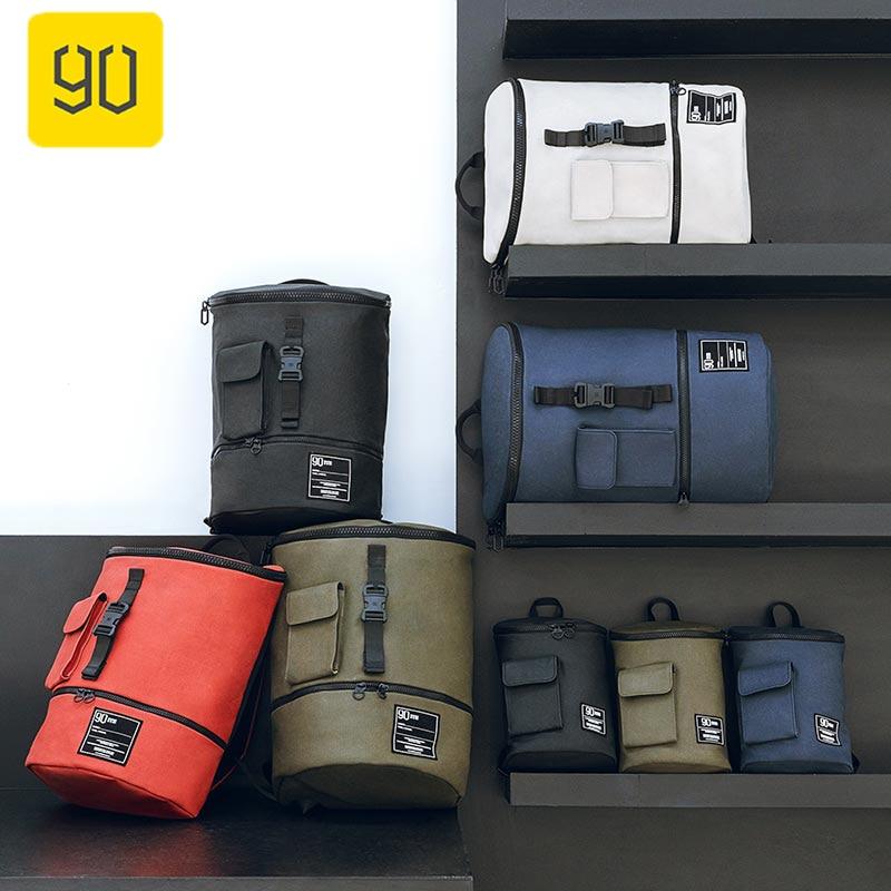 Xiaomi 90FUN Fashion Chic Backpack Waterproof Bagpack Men Women School Bag Shopping Rucksack Casual Laptop Large Capacity Bag 90fun