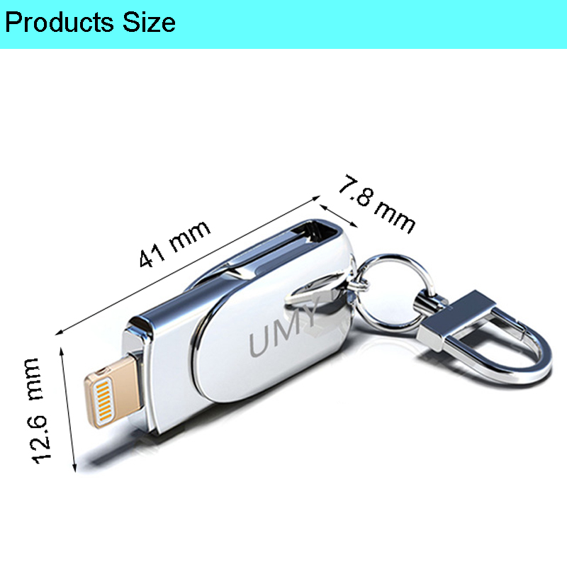 64GB Pen Drive Creative USB Flash Drive 32GB Pendrive For iPhone 128GB Flash Disk USB Lightning For iPhone USB Flash Drives 16GB