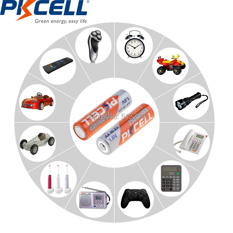 pces 1.6 v aa 2500mwh baterias pkcell