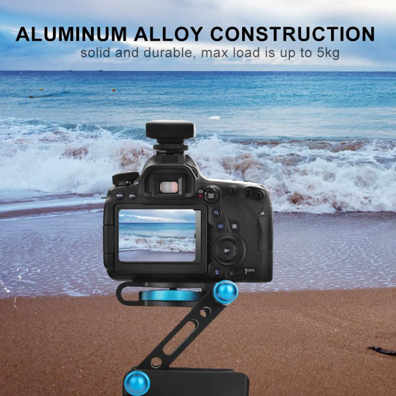 Aluminum Alloy Z-shaped Foldable Quick Release Plate Tilt Tripod for Camera Camcorder