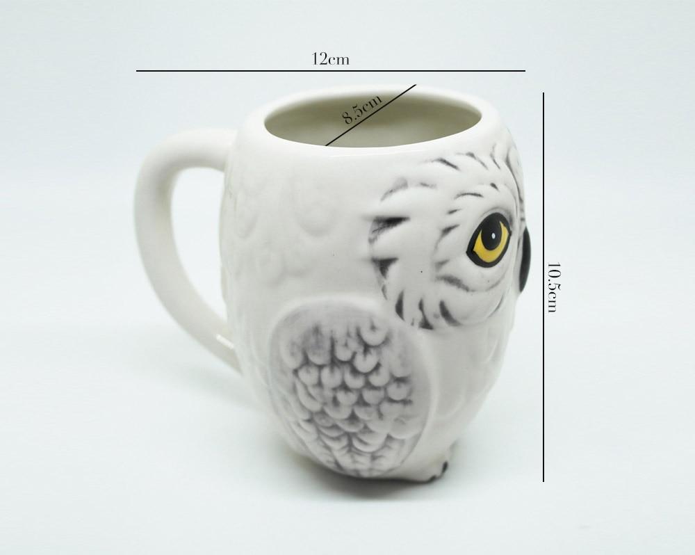 Attractive Hedwig Owl Mug Ceramic Novelty Coffee Milk Cup Gift Owl Shaped Coffee Mugs