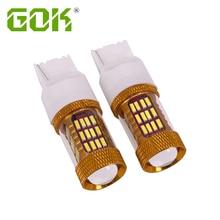 цена на 2pcs T20 7443 7440 4014 chip LED 60 SMD W21/5W 30W Car LED Bulb Turn Signal Light Brake Light Source parking auto White light