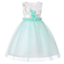 Embroidered Formal Princess Dress for Girl Elegant Birthday Party Baby Christmas Clothes