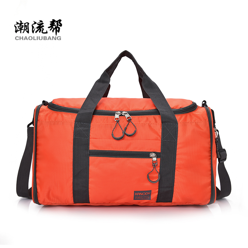 Folding overnight bag Waterproof Nylon Lightweight Handbag Contracted joker Large Capacity Leisure Or Travel Bag Preppy Style