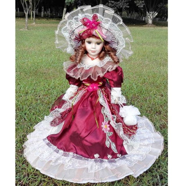 Hot Sell 41CM European Style Victoria Style Russia Ceramic Classical Doll Noble Porcelain Doll High Quality Toy Gift For Girl 14