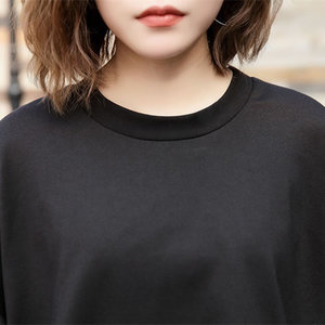 Image 3 - [XITAO] Vrouwelijke Europa Mode Jurk 2019 Lente Nieuwe Casual Volledige Mouw Effen Kleur O hals Onregelmatige Vrouwen Twinset Jurk LYH3101