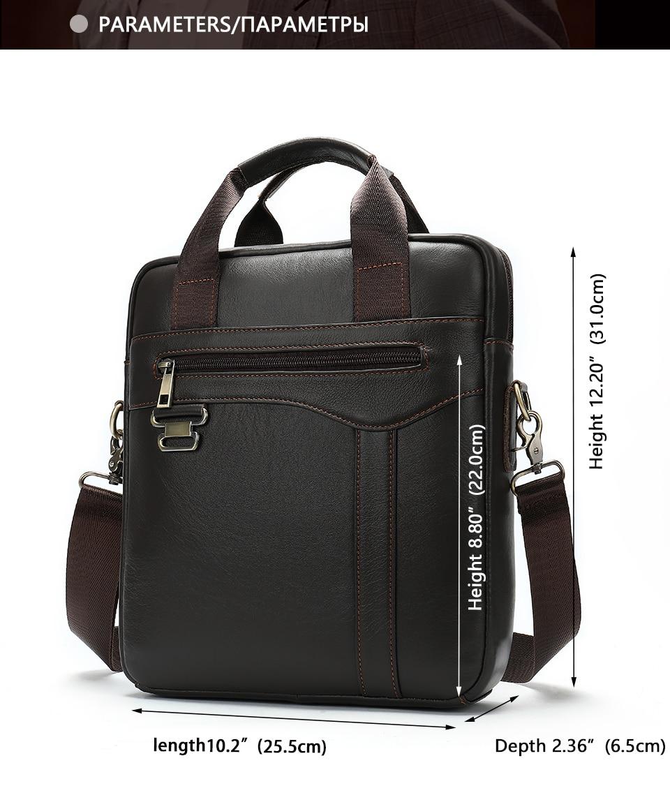 Men \' s Shoulder Bag Male Genuine Leather Crossbody Bags for Men Messenger Bag Casual Vintage Clutch Handbags bolsos 2