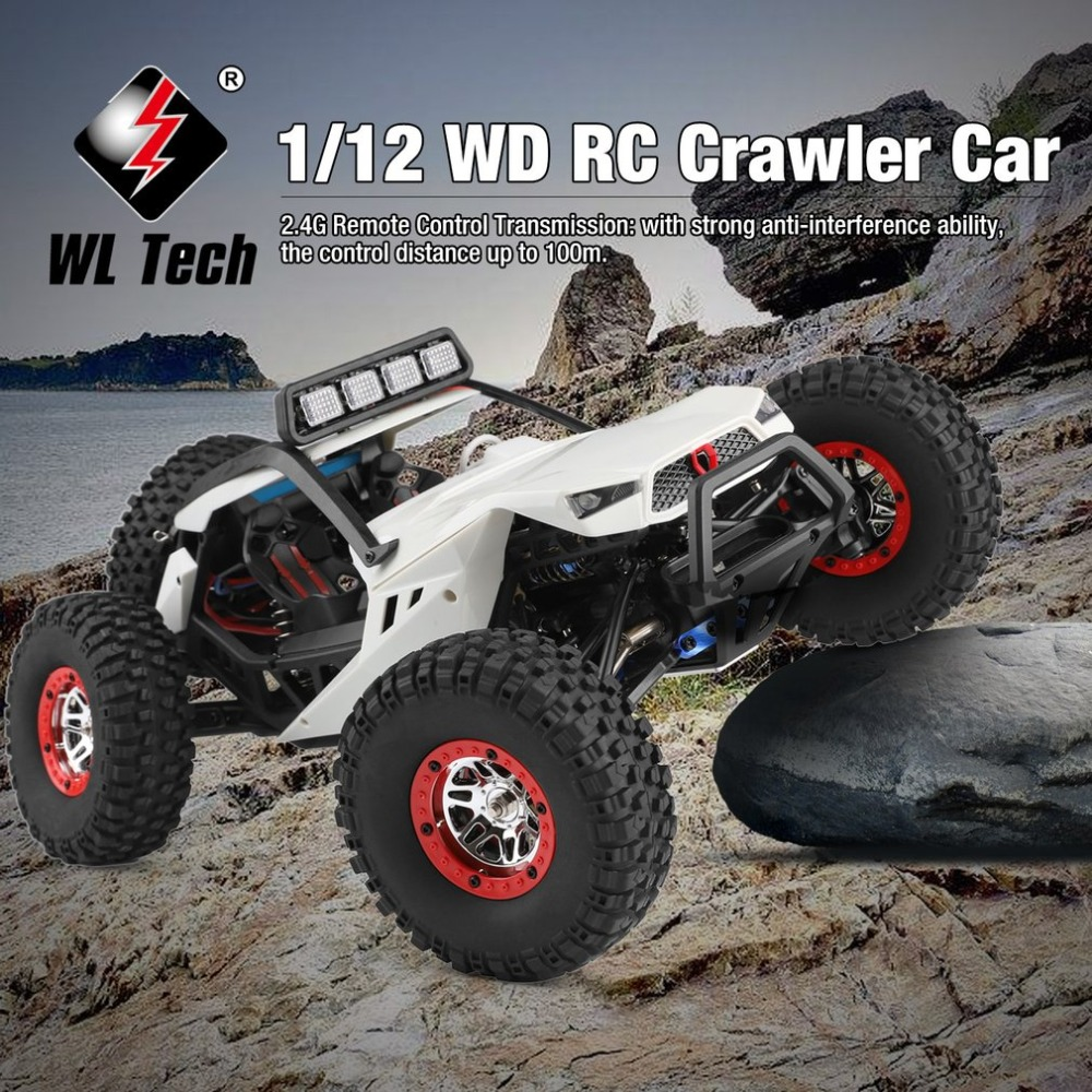 Wltoys RC 4WD 1:12 RC Car Off Road Crawler Climbing Toys with Headlight Remote Control Vehicle Buggy Toys for Kids Gift RTRWltoys RC 4WD 1:12 RC Car Off Road Crawler Climbing Toys with Headlight Remote Control Vehicle Buggy Toys for Kids Gift RTR