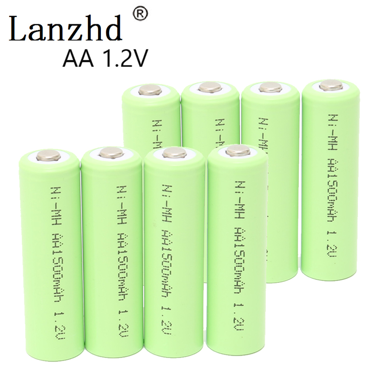 AA Rechargeable Battery 1.2V Ni-MH Battery AA rechargeable batteries for Remote Control Toy camera 1500MAH 4PCS or 8PCS ...