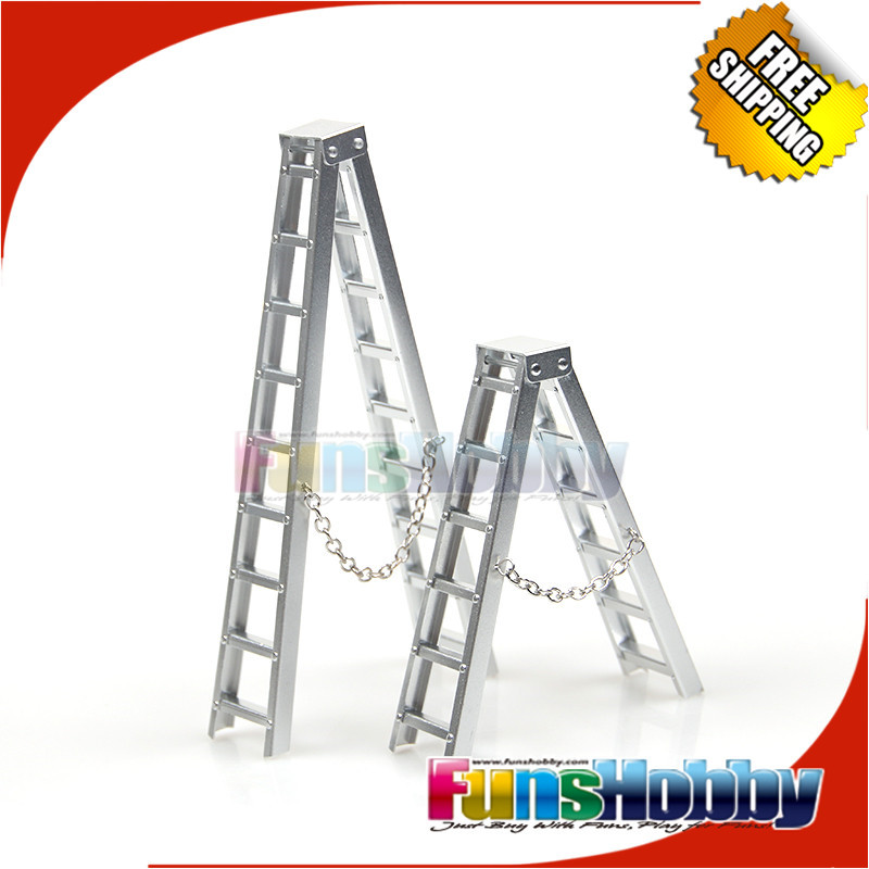 MHPC 1:10 RC Car Crawler Accessories Aluminum Ladder For Axial Tamiya SCX10 D90 COD.FH31108-S/FH31108-L Toy(Not for real car use