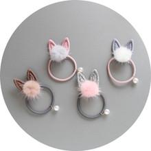 1 PCS New Lovely Long Rabbit Ears Children Hair Ropes Elastic Rubber Hair Band Baby Headwear Kids Headdress Girls Accessories