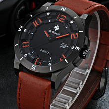 2016 Top Brand Luxury Genuine Leather Waterproof Sport Watches Men Casual Quartz Watch Male Date Clock Army Military Wrist Watch все цены