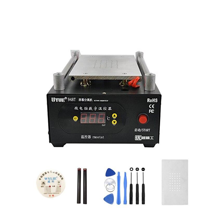 цена на UYUE 948T Mobile phone repair machine Built-in Pump Vacuum Separator Machine for LCD Screen Max 7 inch,for phone display screen