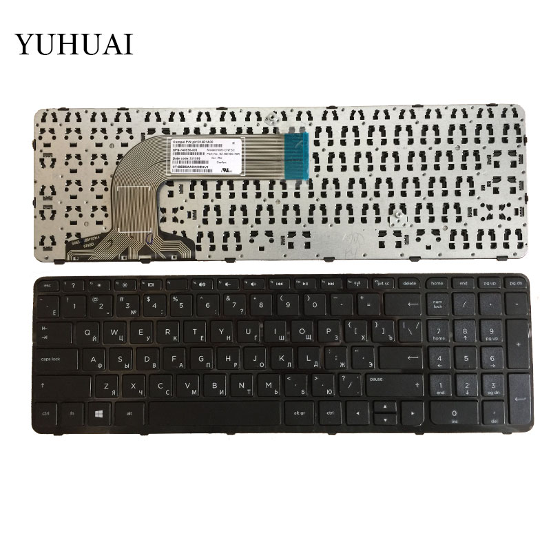 Russian Keyboard for HP Pavilion 17 17E 17N 17-N 17-E R68 AER68U00210 710407-001 720670-251 725365-251 RU Black WITH FRAME ru russian for samsung sf411 sf410 laptop keyboard with c shell