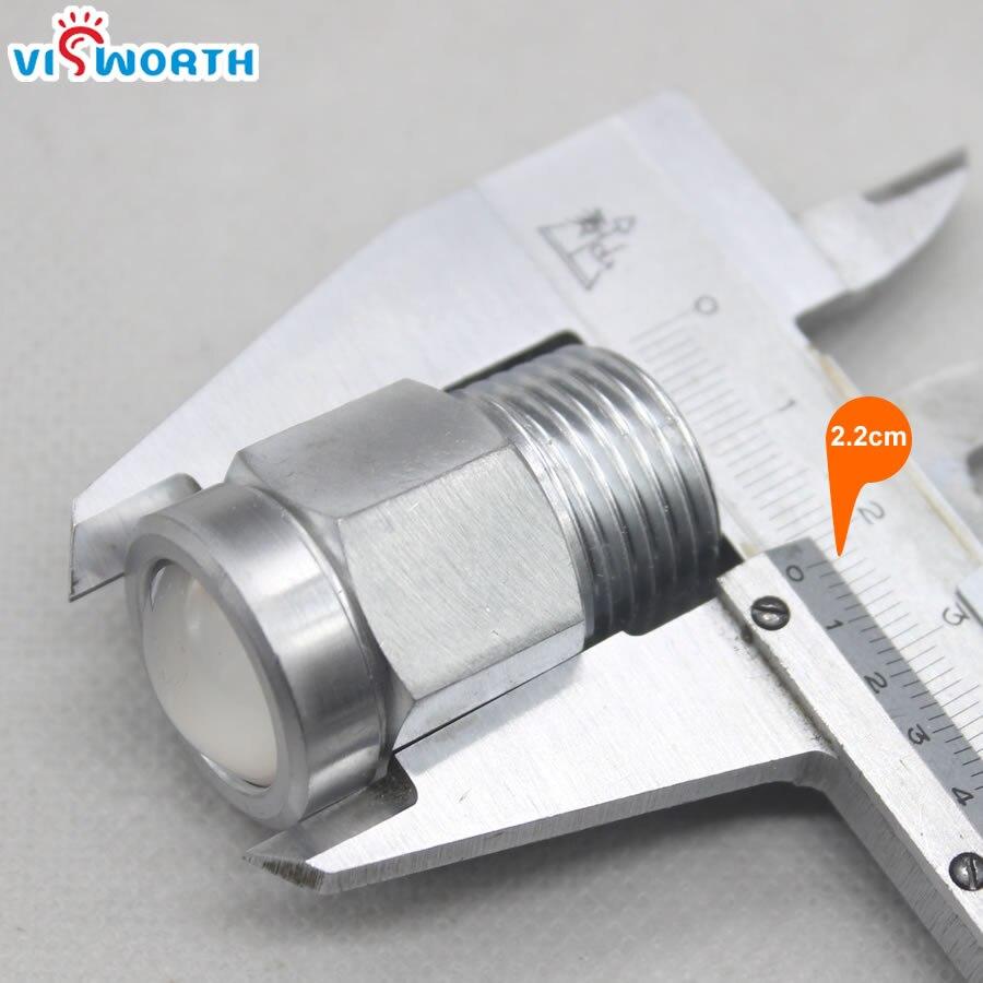 Visworth 12 Вт удара яхты Свет IP68 100% Водонепроницаемый 1/2 ДНЯО AC/DC 12 В открытый spotlighting 0.9 м кабель светодиодный прожектор
