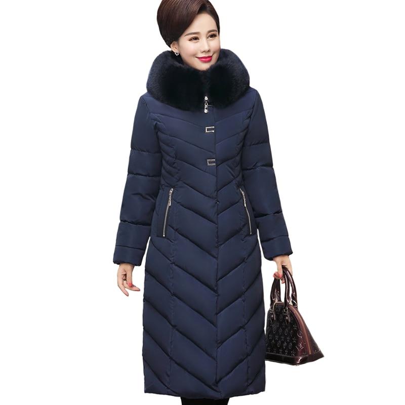 2019 Winter Jacket Women Plus Size 5XL Middle-aged Womens   Parkas   Thicken Warm Hooded Coats Long Female Winter Women's Jackets