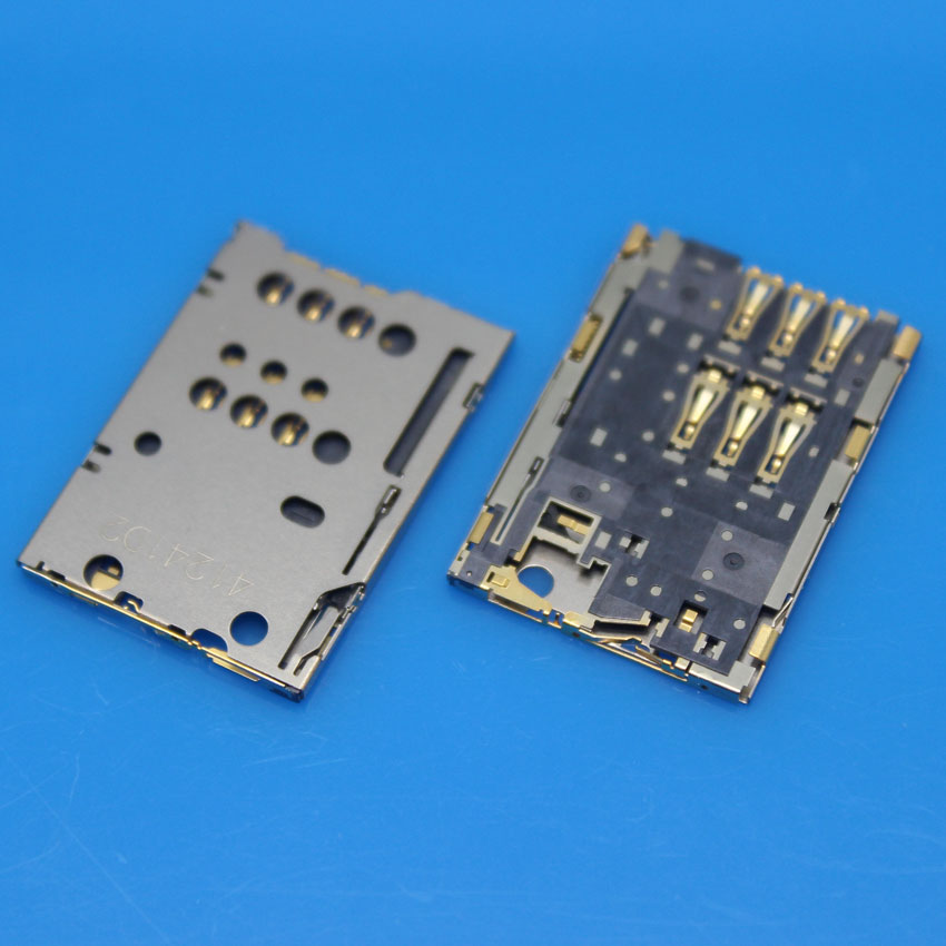 cltgxdd 5pcs New Socket For Lenovo A1000 A1020 Sim Card Reader Holder Tray Slot With Tracking Number
