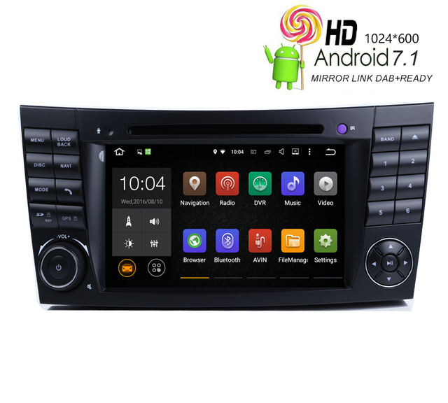 Avansert HIRIOT Car Android 7.1 DVD GPS Player For MERCEDES BENZ W211 E IH-49