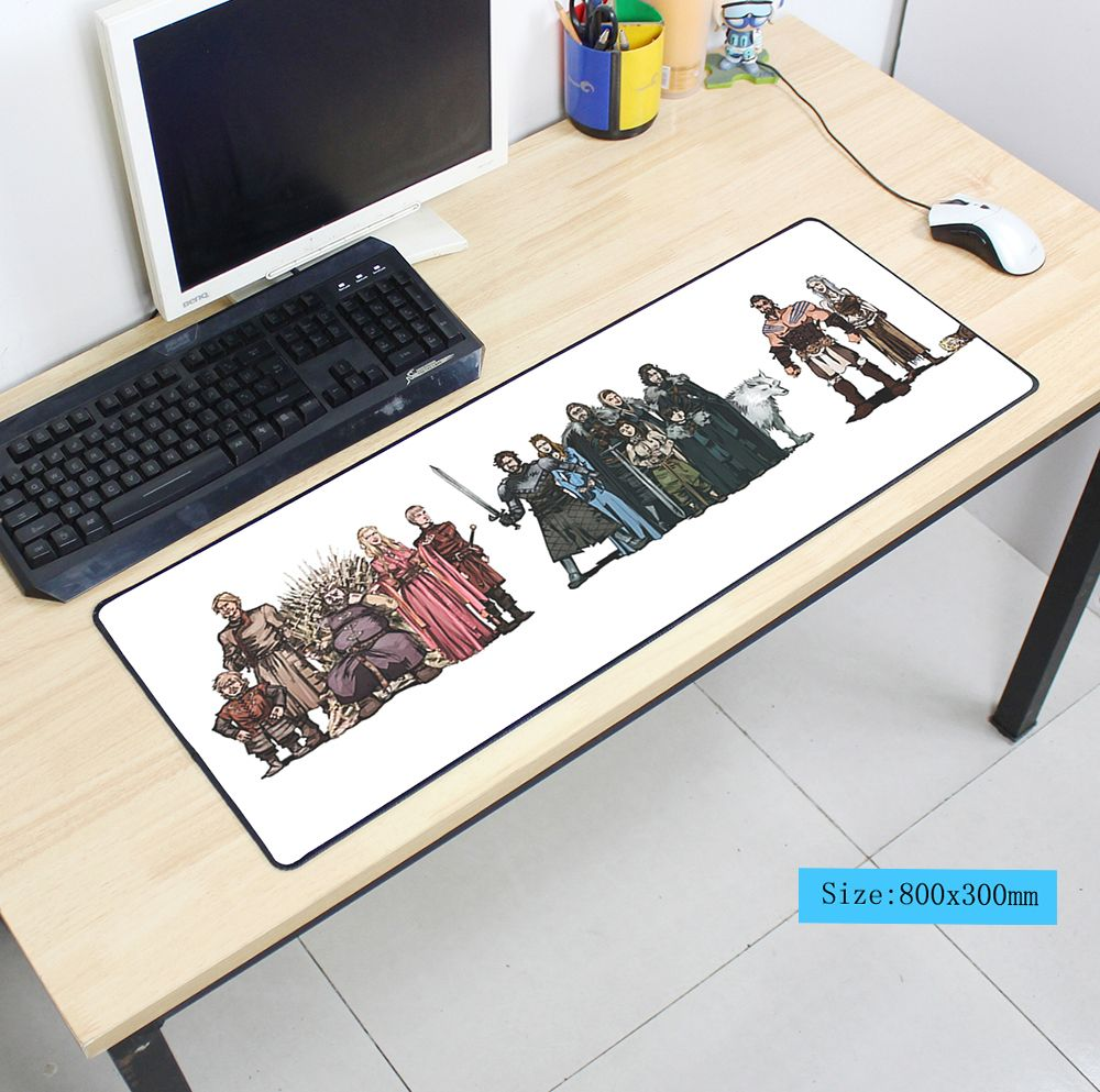 hot sales Game of Thrones mouse pad 800x300x3mm mousepad laptop padmouse notbook computer gaming mouse pad gamer play mat