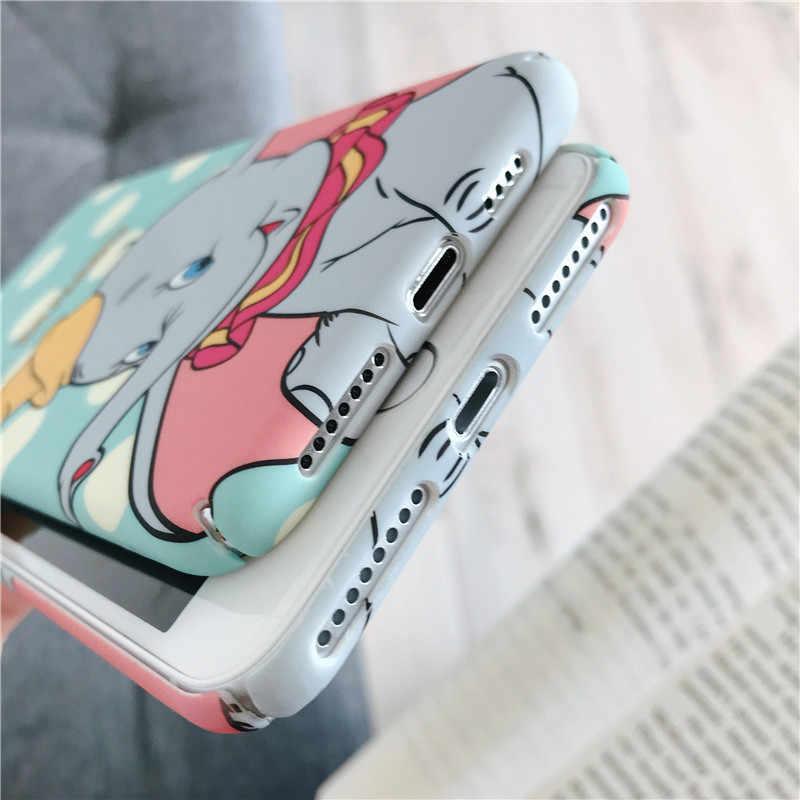 Креативный мультяшный водозащитный чехол из поликарбоната для iPhone11 X XS XR XSMax 8 76 6S PluS, сплошной цвет, мягкий корпус, защита от падения, задняя крышка