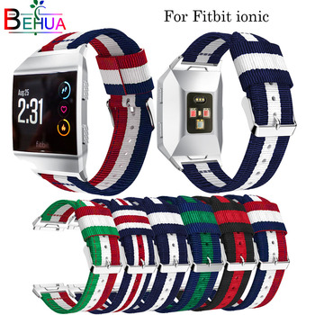 Nylon watchband Adjustable strap For Fitbit Ionic Replacement smart Sport Strap wristband For Fitbit Ionic smart watch band band for fitbit ionic soft silicone replacement sport band strap for fitbit ionic smart fitness watch band sport high quality