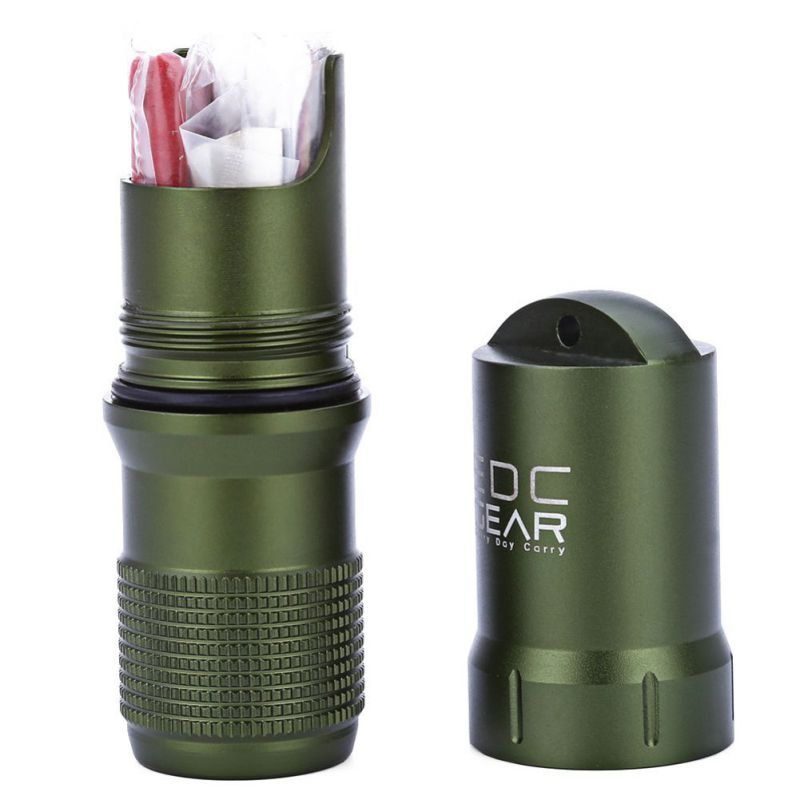 Capsule EDC Waterproof Hike Box Survival Waterproof Pill / Match Case Box Container Survive Seal Trunk Container Holder Storage