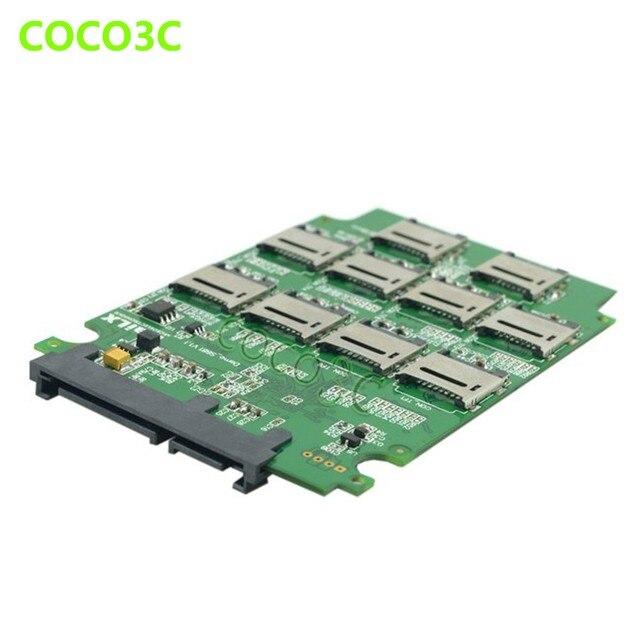 """10 Tf слота расширения До 2.5 """"SATA 3.0 SSD RAID0 Карты множитель TF карты для SATA 6 ГБ/сек. Жесткий Диск адаптер"""