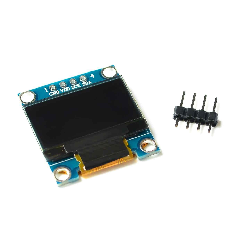 Couleur bleu blanc 128X64 O LED Module de écran LED lcd pour Arduino 0.91 0.96 1.3 I2C IIC série nouveau original avec étui