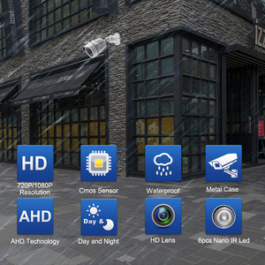 Image 2 - Smar 720P 1080P AHD Camera  Wide View AHDH  Security Camera  Outdoor Waterproof With 36PCS Infrared LEDS Day& Night Surveillance